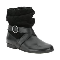 Clarks black dolly boot