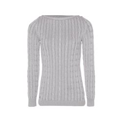 Polo Ralph Lauren Women's silver Benata Long Sleeve Boat Neck Sweater