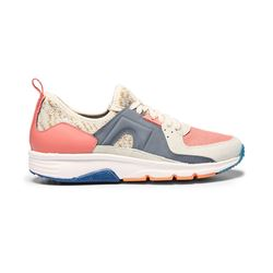 Coral, grey and beige sneakers