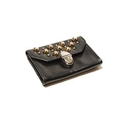 The Kooples Leather coin purse with studs