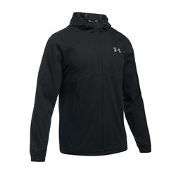 Men's jacket in black by Under Armour at Wertheim Village