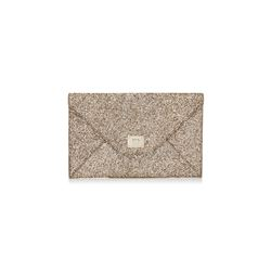 Jimmy Choo gold Cayla clutch bag from Bicester Village