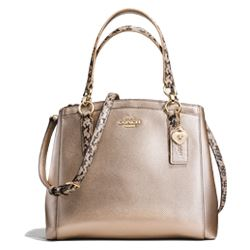 Handbag in gold by Coach at Ingolstadt Village