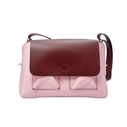 Fossil pink and red satchel