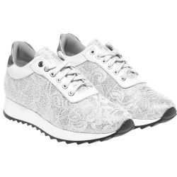 Running shoes in white lace Baldinini