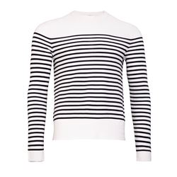 Men's pullover in blue/white with stripes by Sandro at Wertheim Village