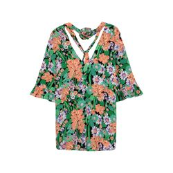 Sandro 100% silk top with floral print
