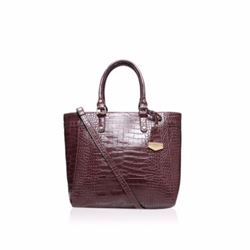 Kurt Geiger Boutique Dina wine croc winged tote