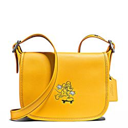 Women's bag 'Mickey Leather Patricia' in yellow by Coach at Ingolstadt Village