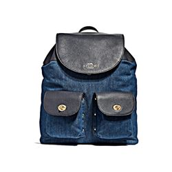 Denim Leather Mix Billie Backpack