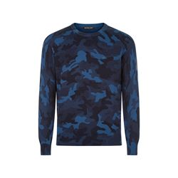 Printed camo crew neck sweater
