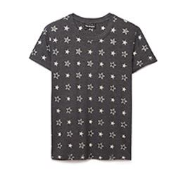 Star Cotton Grey T-Shirt
