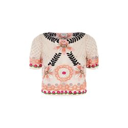 Temperley London Belle lattice crop top