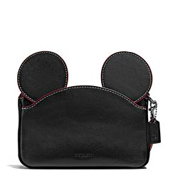 Damen-Handtasche 'Mickey Patricia Ear' in Schwarz von Coach in Wertheim Village