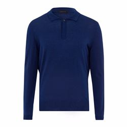 Falke Men's navy polo knit sweater