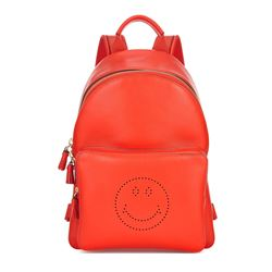 Anya Hindmarch Backpack smiley in flame red circus