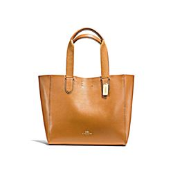 Coach Women's Caramel Large Derby Tote
