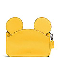 Damen-Handtasche 'Mickey Patricia Ear' in Gelb von Coach in Wertheim Village