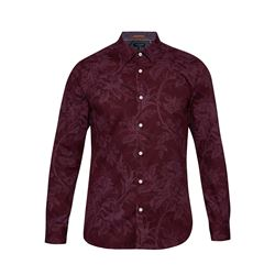 Tulls dark red shirt