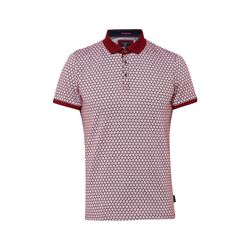 Spot Printed Herringbone Polo