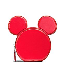 Damen-Geldbeutel 'Mickey Leather Ear' in Rot von Coach in Wertheim Village