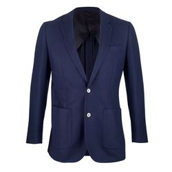 Navy blazer, made in italy fabric, 100% wool