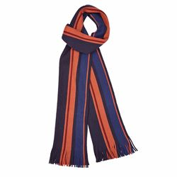 Savoy Taylors Guild Orange and blue striped scarf