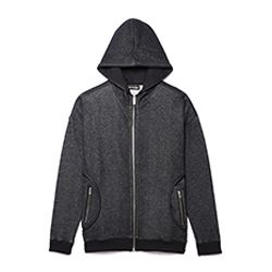 Grey/Black Cotton Hoodie