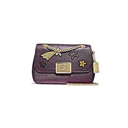 Coach IM/Metallic Raspberry Star Embellished Leather Cassidy Crossbody from Bicester Village