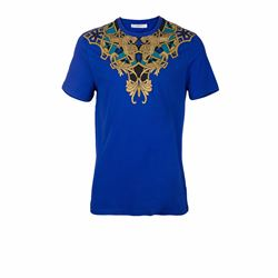 T-Shirt in blue/gold by Versace at Wertheim Village