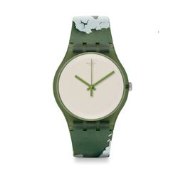 Hour Passion Swatch rough green watch