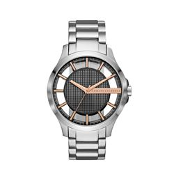Armani Exchange men's watch in silver by Watch Station International at Wertheim Village