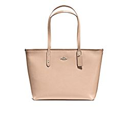 Shopper in beige by Coach at Wertheim Village