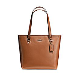 Crossgrain Zip Top Tote w PVC Bottom