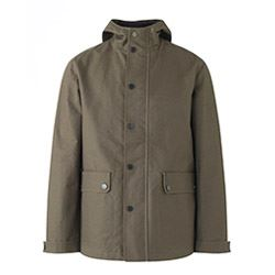 Jigsaw Wax cotton canvas hoody coat