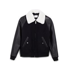 Sandro, Men's leather and cashmere jacket