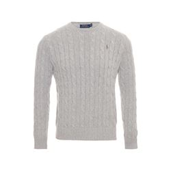 Long sleeve cable sweater Andover heather