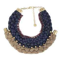 Blue necklace with details