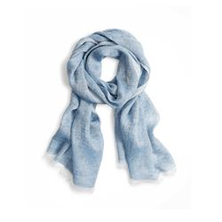 Brooks Brothers Light blue Linen scarf from Bicester Village