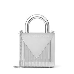 'Mercer' clutch in silver by Michael Kors at Ingolstadt Village