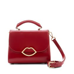 Classic Red Small Polished Calf Izzy with Lip Closure Handbag