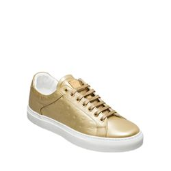 MCM  Logo unisex gold sneakers from Bicester Village