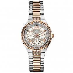 Guess ladies gold and silver watch
