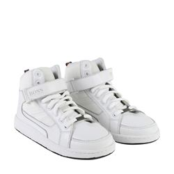 'Boss' shoes in white