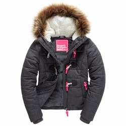Superdry Women's marl toggle puffle jacket