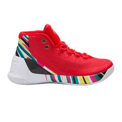 Curry red sneakers