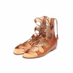 Só Collective Liam Fahy tan lace up sandal