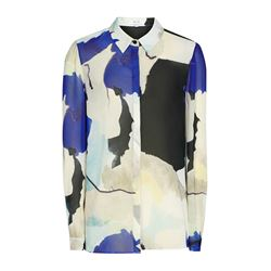 Watercolour Sketch Print Blouse