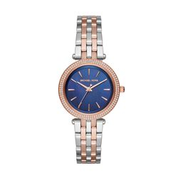 Michael Kors women's watch in rosegold with silver by Watch Station International at Wertheim Village
