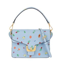 Bag in blue with fruits by Coccinelle at Wertheim Village